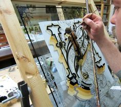 Gold Leaf Workshops – Photos « David Smith – Traditional Ornamental Glass Artist