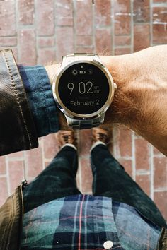 Fossil Q Founder Smart Watch Supernatural Style Stylish Watches, Luxury Watches, Cool Watches, Watches For Men, Simple Watches, Smartwatch, Breitling, Cartier, Fitbit