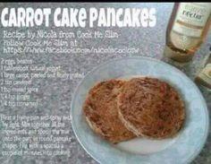Slimming World carrot cake pancakes!