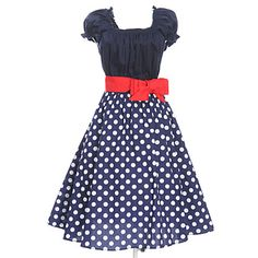 Women's Vintage 50s Rockabilly Swing Dress – USD $ 41.99