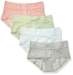 Essentials 4-Pack Lace Stretch Hipster Panty Donna