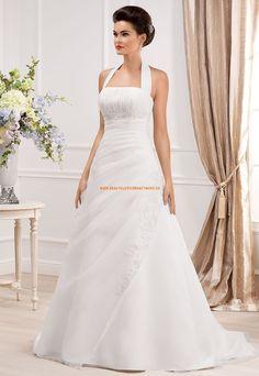 Wunderschöne Bodenlange Hochzeitskleider aus Organza