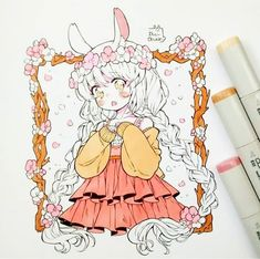 Marvelous Learn To Draw Manga Ideas. Exquisite Learn To Draw Manga Ideas. Copic Drawings, Anime Drawings Sketches, Anime Sketch, Kawaii Drawings, Manga Drawing, Manga Art, Cute Drawings, Kawaii Chibi, Cute Chibi