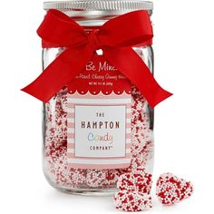 The Hampton Popcorn Co. Valentine's Day Mason Jar (21 AUD) ❤ liked on Polyvore featuring home, kitchen & dining and no color