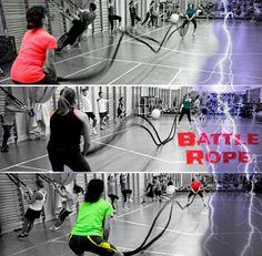 Doble Battle Rope, en parejas :  Ondas Alternas + Ondas a dos brazos.