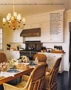 Kitchen of James and Whitney Fairchild. House and Garden Magazine, June 2004.