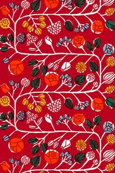 And also today from Marimekko are a selection of their designs on textile fabrics and fashion. See more from Marimekko at their website h. Textile Patterns, Textile Design, Print Patterns, Textile Fabrics, Floral Patterns, Graphic Design Pattern, Surface Pattern Design, Marimekko Fabric, African Textiles