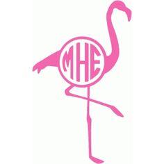 Silhouette Design Store - View Design #87251: flamingo monogram