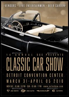 Awesome PSD Classic Car Show Flyer Template U2022 Click Here To Download ! Http://