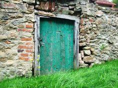 Long years unused doors in small village Maršovice (central Bohemia, distr.Benešov)