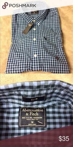 Abercrombie and Fitch Shirt - NEW This is a long sleeve in a size medium slim fit shirt.  New with tags! Abercrombie & Fitch Tops Button Down Shirts