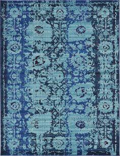 Blue 9' 0 x 12' 0 Casablanca Rug | Area Rugs | eSaleRugs