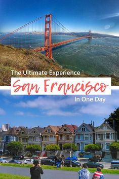 """San Francisco bucket list of things to do and what to see in a day. Budget-friendly and free! If you're in the Bay Area and have only 24 hours to spend in San Francisco, check out the """"must do"""" list of things you just can't miss, like the Golden Gate Bridge views and Painted Ladies. See the itinerary here: https://togethertowherever.com/what-do-san-francisco-one-day/ #SanFrancisco #bucketlist #Itinerary #goldengatebrideg #paintedladies #twinpeaks #pier39"""