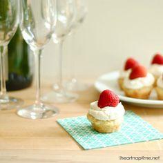 mini strawberry shortcakes. Perfect bite size treat!