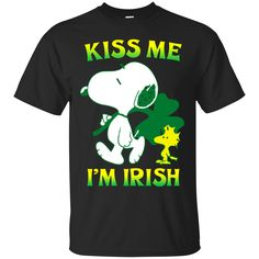 Snoopy: Kiss Me I'M iRish Shirt Hoodie Tank sold by iFrogtees