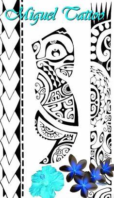 Motif de Tatouage de Tiki Marquisien