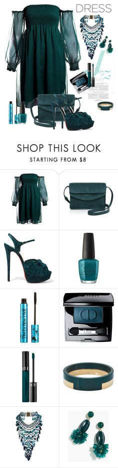 """Dreamy Dresses"" by marionmeyer ❤ liked on Polyvore featuring Sans Souci, Illesteva, Christian Louboutin, OPI, Barry M, Christian Dior, Sephora Collection, Marni, Rosantica and J.Crew"