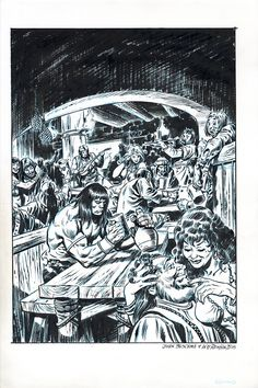 CONAN by John Buscema and Bill Reinhold Comic Art