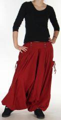 Sarouel Mixte d'hiver Ethnique et Baba cool Kalvin Rouge 275519