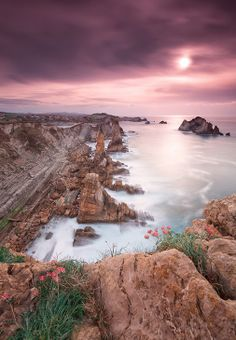 Sunset @ Los Urros de Liencres - Cantabria (Spain) by Eric Rousset on Beautiful Sunset, Beautiful World, Beautiful Places, Places To Travel, Places To See, Travel Destinations, All Nature, Amazing Nature, Landscape Photography