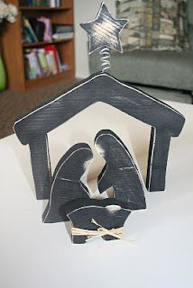 Wooden nativity - Super Saturday craft