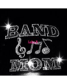 Band mom - spirit transfer -iron on Rhinestone Transfer Bling Hot Fix Bling -  DIYr on Etsy, $11.99