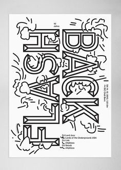 Creative Type, Herr, Peter, Print, and Poster image ideas & inspiration on Designspiration Type Posters, Graphic Design Posters, Graphic Design Typography, Graphic Design Inspiration, Poster Designs, Daily Inspiration, Club Poster, Poster S, Poster Prints