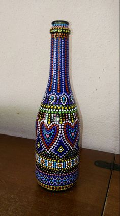 All of these mauve flask activities offer a large number of techniques to pull out and reinvent this every day item, Will you decide to recycle personal grape flask or repurpose it? Bead Bottle, Glass Bottle Crafts, Wine Bottle Art, Painted Wine Bottles, Painted Wine Glasses, Bottle Painting, Dot Painting, Diy Chalkboard Paint, Pottery Painting Designs