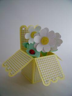 Yellow button Pop Up Card