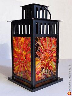 Hand painted lantern