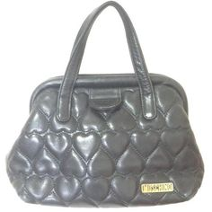 Preowned Vintage Moschino Black Heart Shape Quilted Lambskin Mini... ($282) ❤ liked on Polyvore featuring bags, handbags, tote bags, black, vintage tote, quilted purses, vintage purses, vintage handbags and handbags totes
