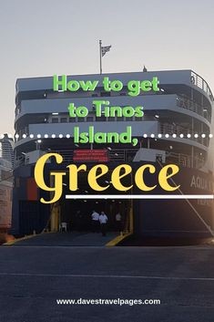 Rafina to Tinos Ferry - How to get from Athens to Tinos Island The only way to get to Tinos from Athens is by ferry. This travel guide shows you how to take the Rafina to Tinos ferry, and why it's a better option than Piraeus to Tinos. Mykonos, Santorini, Greece Islands, Greece Travel, Crete, Holiday Destinations, Historical Sites, Travel Guides, Athens