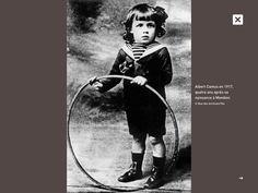 Albert Camus (1913-1960) en 1917, 4 ans après sa naissance à Mondovi (aujourd'hui Dréan), près de Bône (aujourd'hui Annaba), en Algérie. (ne pas confondre avec la Mondovi italienne !)