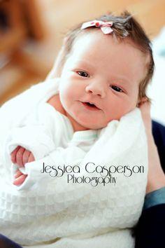 Jessica Casperson Photography, newborn, girl, hospital pictures