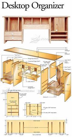 Desktop Organizer Plans - Furniture Plans and Projects | WoodArchivist.com  #WoodworkPlans