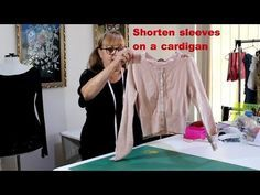 Shorten sleeves pink cardigan - Clothes Alterations