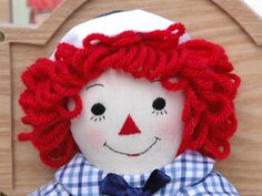 Raggedy Andy doll, handmade, 10 inch by MandMneedles on Etsy