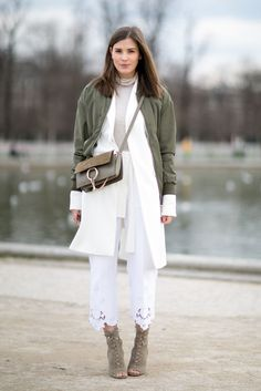 Add interest to a monochromatic look with layers.