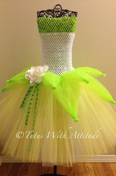 Disney Princess Tiana inspired tutu dress, love how they added another headband to the bodice to make it longer for a bigger child