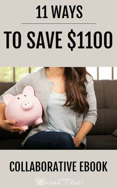Stock your emergency savings up with the money you'll save implementing these 11 Ways to save $1,100! Saving Money #SaveMoney Saving Money Ideas