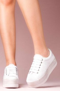 JEFFREY CAMPBELL SNEAKERS - ZOMG WHITE WASHED