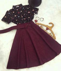 Cute Casual Outfits, Pretty Outfits, Pretty Dresses, Beautiful Dresses, Mode Outfits, Skirt Outfits, Habit Vintage, Cute Fashion, Teen Fashion