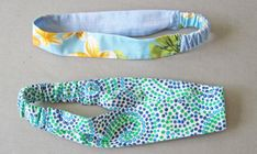 Sewing Gifts For Kids Tutorial: Scrap fabric headband - Sew your fabric scraps into pretty hair accessories! Beth from SunnyGal Studio shares a tutorial at Craftsy for making these fabric headbands. If you don't have enough of one kind of scrap … Sewing Headbands, Fabric Headbands, Cute Headbands, Diy Headband, Flower Headbands, Headband Pattern, Fabric Headband Tutorial, Little Girl Headbands, Skinny Headbands