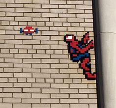 Spiderman Tile Mosaic  By Invader, NYC
