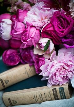 old garden roses, old books, old romance... love:)