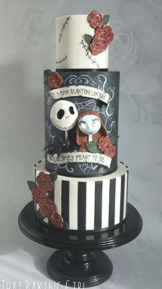 How Nightmare Before Christmas Wedding Cake Can Increase Your Profit! - How Nightmare Before Christmas Wedding Cake Can Increase Your Profit! - nightmare before christmas wedding cake Bolo Halloween, Halloween Torte, Dessert Halloween, Halloween Wedding Cakes, Girl Halloween, Halloween Prop, Halloween Witches, Happy Halloween, Pretty Cakes