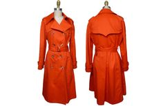1970s London Fog Raindrops Red Trench Coat by NobleSavageVintage, $85.00 I love the fact that it is orangey!!!