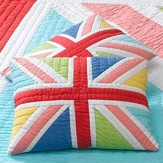 Union jack quilted pillow