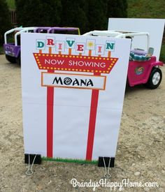 DIY Doll Drive-In Movie Marquee, Screen, & Concessions