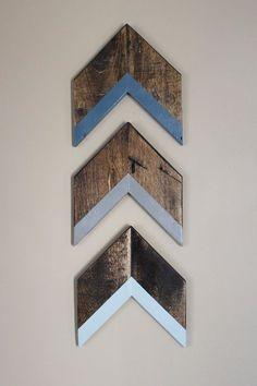 Arrow Wall Decor Trio Chevron Wall Decor Blue by samofalltrades